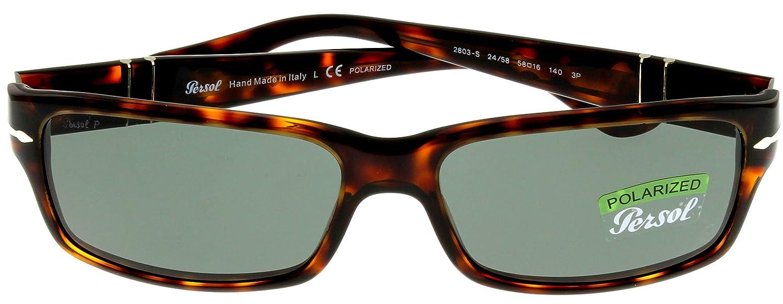 8d8389268f6 Amazon.com  Persol Sunglasses Men Havana Retangular Polarized PO2803S 24 58   Clothing