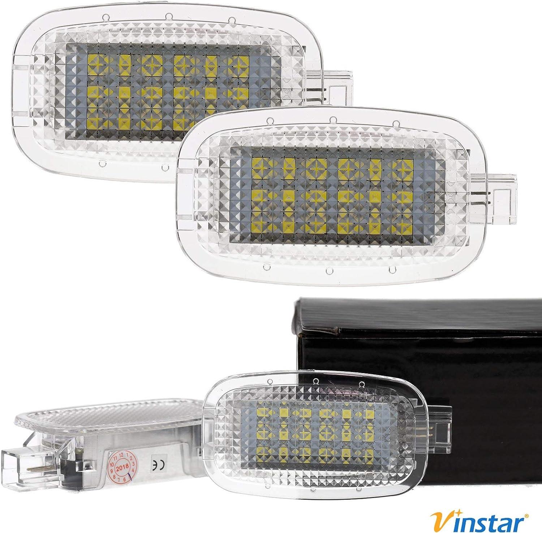 Vinstar 2x Led Kofferraum Beleuchtung Kompatibel Mit W164 X164 C197 W204 X204 W221 W245 W251 W463 W212 Auto