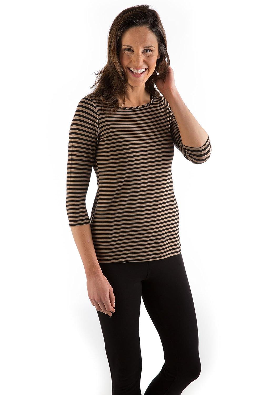 Yala Women's BambooDreams 'Kai' 3/4 Sleeve Boatneck T-Shirt