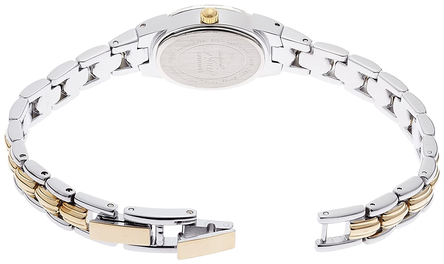 Armitron Women s Oval Facetted Crystal Two-Tone Bracelet Watch