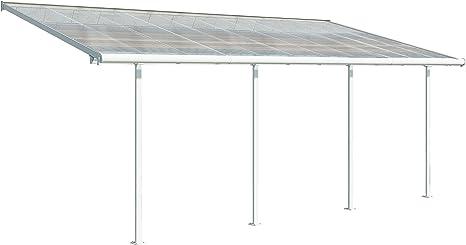 Palram Carnival - Pérgola Adolescente de Aluminio y policarbonato, para Cubrir una terraza Todo el año