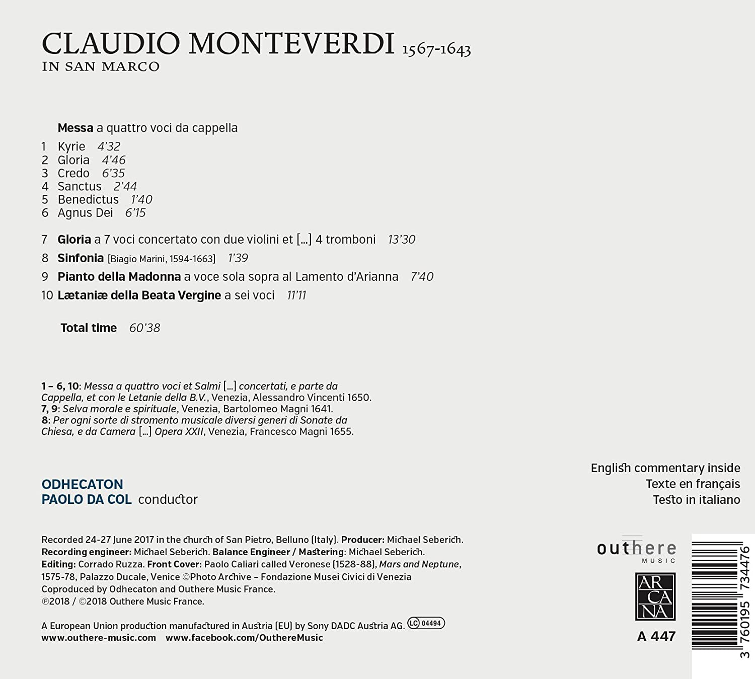 Monteverdi In San Marco: Amazon.co.uk: Music