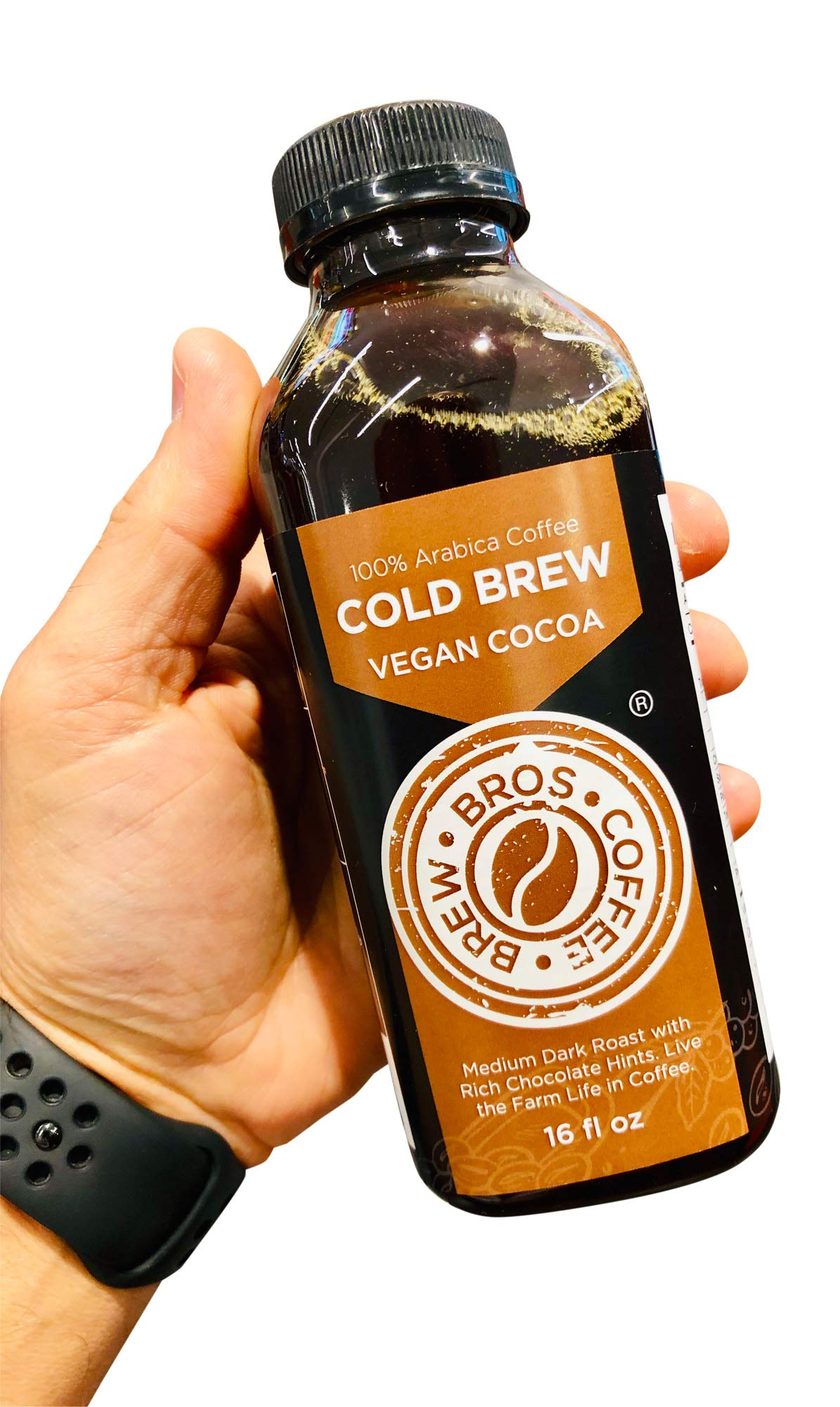 Artisan Small Batch Roasted 16 hour Brew Vegan Chocolate COLD Brew Bros - 8 pack (16oz) Medium Dark Roast by Gelato Brothers