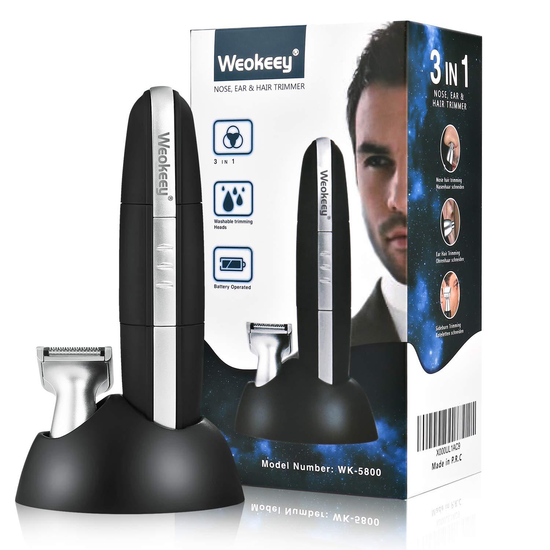 Nasenhaarschneider, Nasenhaartrimmer Nasen- & Ohrenhaartrimmer für Herren und Frauen, auch für Koteletten – 2 in 1 Trimmerset Batteriebetrieben (A-1)