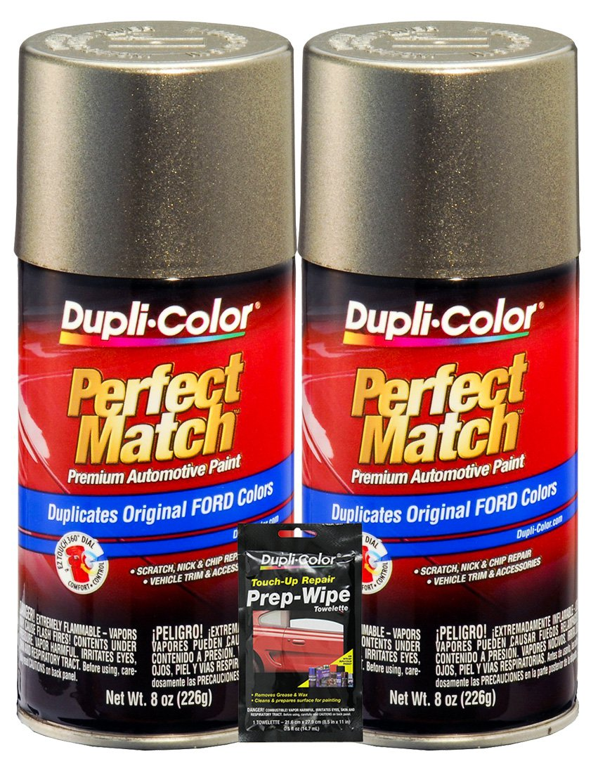 Amazon.com: Dupli-Color Mineral Gray Metallic Ford Exact-Match Automotive Paint - 8 oz, Bundles with Prep Wipe (3 Items): Automotive