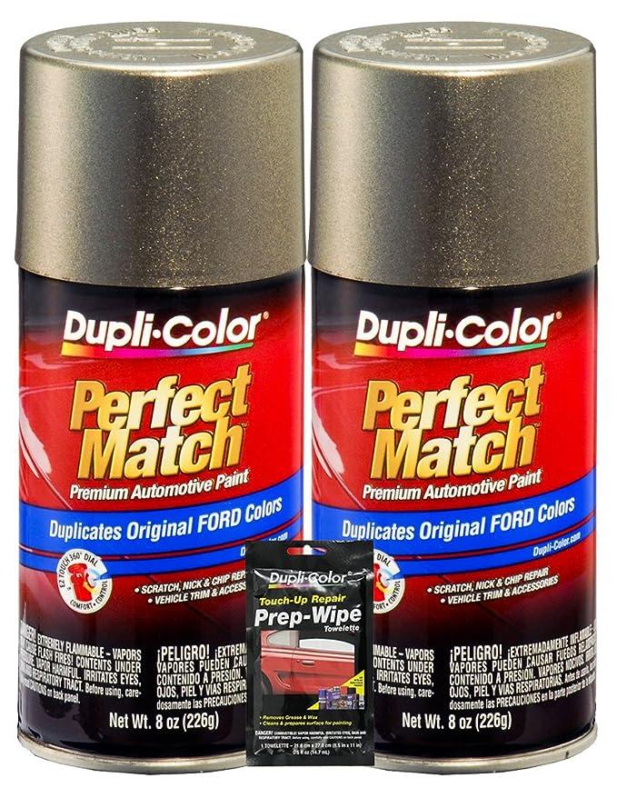 Amazon.com: Dupli-Color Mineral Gray Metallic Ford Exact-Match Automotive Paint - 8 oz, Bundles with Prep Wipe (3 Items): Automotive