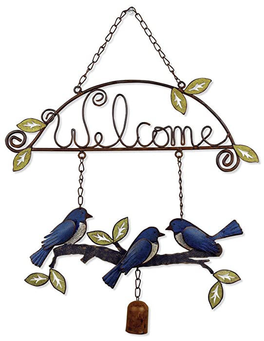Sunset Vista Designs Garden Essentials Birds of a Feather Birdies Welcome Sign, 18-Inch Long