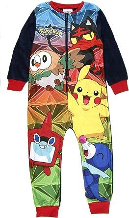 Pijama de forro polar para niños de 1 a 8 años
