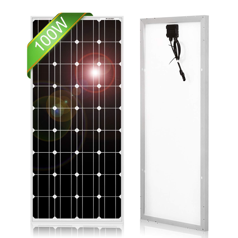 DOKIO 100 Watt 12 Volt Monocrystalline Solar Panel High Efficiency Mono Module RV Marine Boat Off Grid by DOKIO