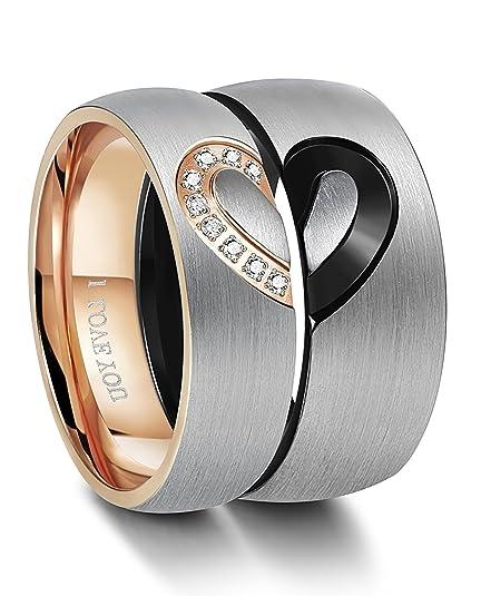 Be Steel Edelstahl Ring Fur Herren Damen Liebe Herz Ringe Hochzeit