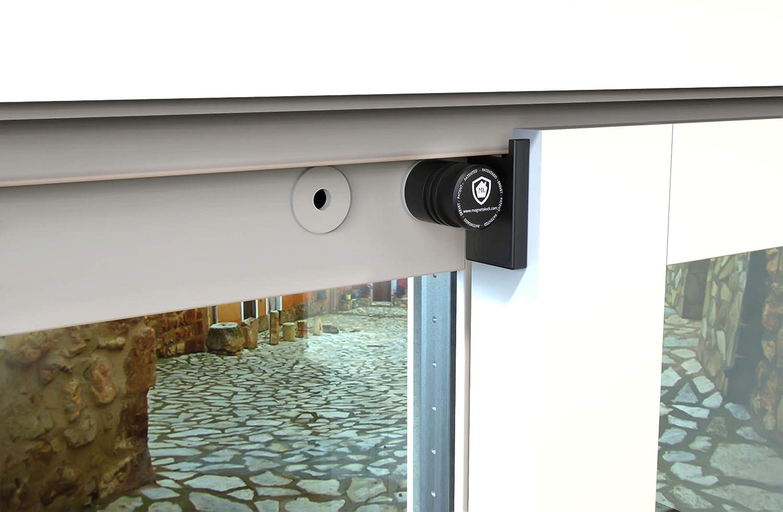 Magnetolock V2.0 (Blanco). Bloqueo de Seguridad Ventanas y Puertas Correderas. Bloqueo con ventana cerrada y abierta. Ajustable posición de ventilación para seguridad Niños, Bebé