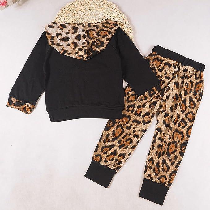 2 PCS Felpa SUDADY Completo Inverno Bambino Bambina Abbigliamento Tuta Elegante Pantaloni Leopardo Pigiama Bambini Vestiti Inverno Abiti Caldo Invernali Pigiami Neonati Bambino Regalo