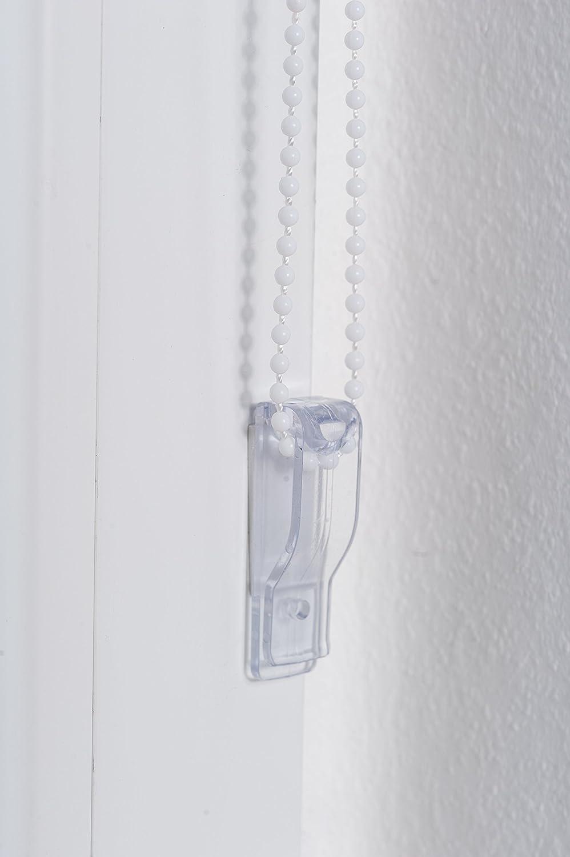 Bianco K-home Klemmfix Tenda a rullo Madrid Fissaggio a Clip Senza Viti 50 x 150 cm