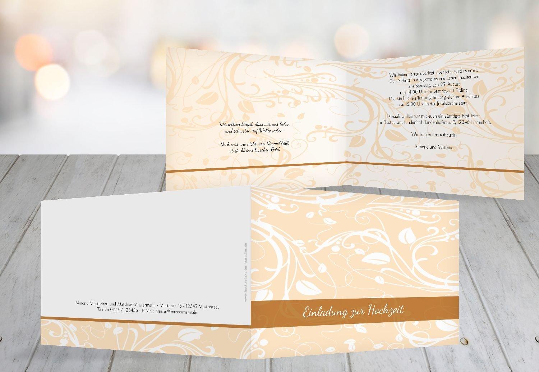 Kartenparadies Hochzeitskarte Hochzeit Einladung Blättertraum 2, hochwertige Einladung zur Heirat inklusive Umschläge   10 Karten - (Format  148x105 mm) Farbe  Schwarz B01MTB8MWS | Qualitativ Hochwertiges Produkt  | Hohe Qualität und Wirtschaft