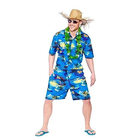 Mens Hawaiian Party Guy Luau Summer Beach BBQ Shirt u0026 Shorts Fancy Dress Costume  sc 1 st  Amazon.com & Amazon.com: Mens Hawaiian Party Guy Luau Summer Beach BBQ Shirt ...
