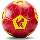 CubicFun Kids Soccer Ball Size 3 with Hand Pump Mesh Bag, Dinosaur Soccer Ball Outdoor Toys for 3 Year Old Boys Gifts…
