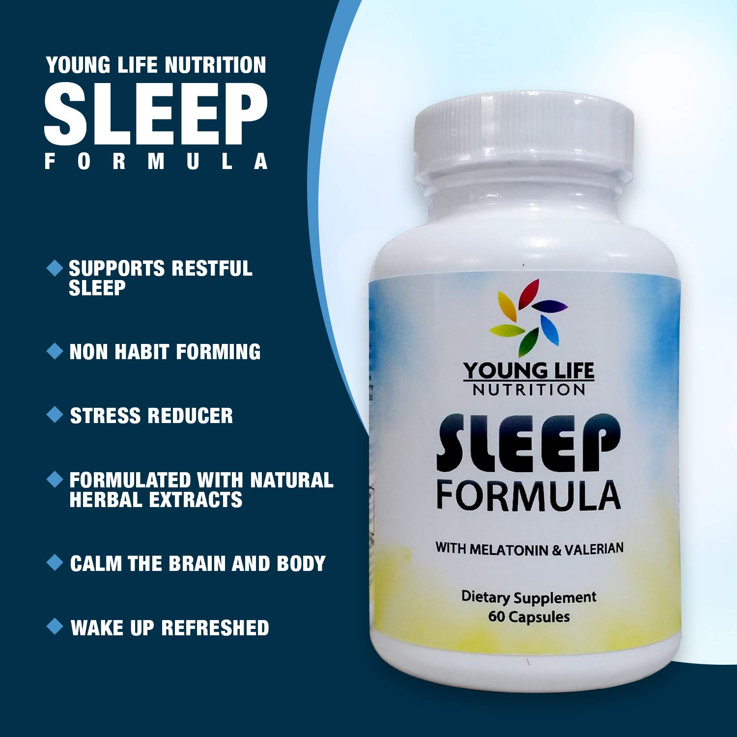 Amazon.com: Sleep Formula with Melatonin & Valerian 60 Capsules: Health & Personal Care