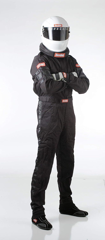 RaceQuip 110003 110 Series Medium Black SFI 3.2A//1 Single Layer One-Piece Driving Suit