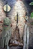 Livitat® Wandhaken Flaschenzug Metall Industrie Design Vintage Loft LV5095/Set