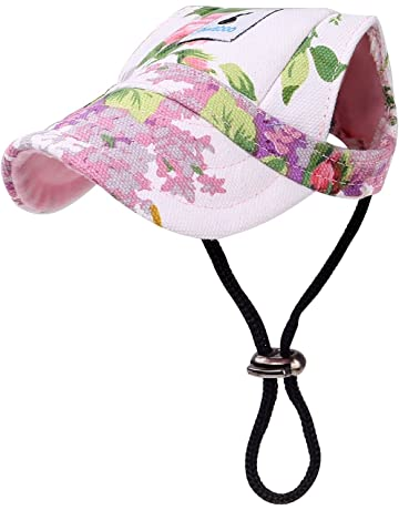 b6b9c23d589c71 PAWABOO Dog Baseball Cap, Adjustable Dog Hat Visor Hat Outdoor Sport Sun  Protection Sunbonnet Outfit