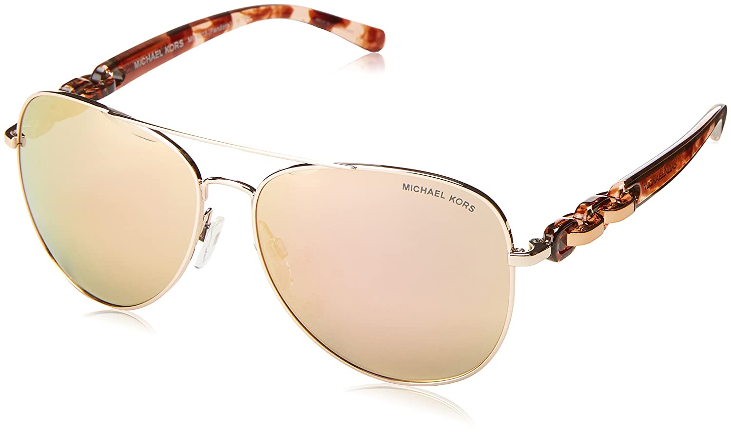 b886802103f Michael Kors MK1015 1130R1 Rose Gold-Tone Pandora Pilot Sunglasses Lens  Categor at Amazon Women s Clothing store