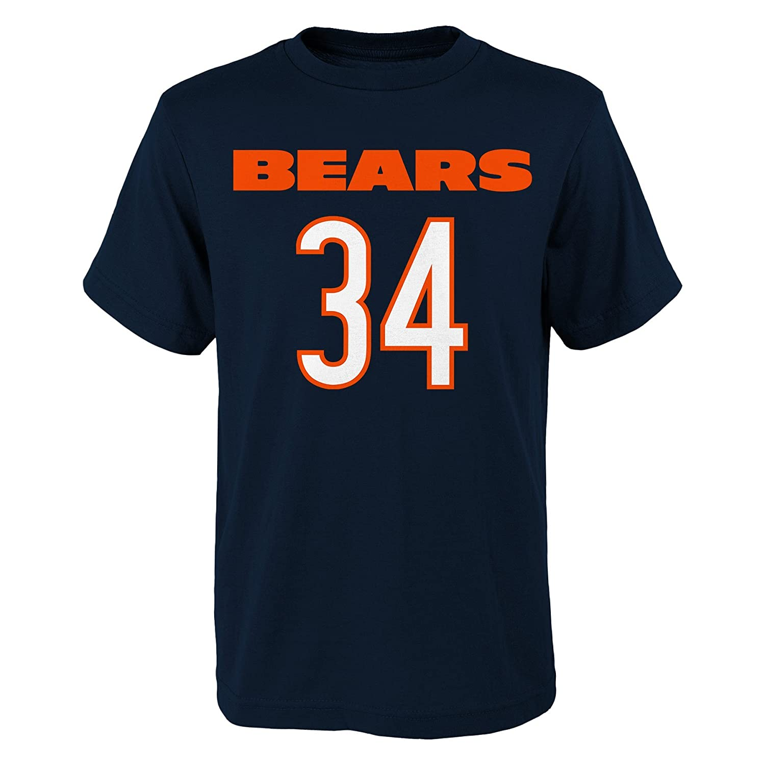 18 XL Navy Outerstuff NFL Chicago Bears Youth Boys Retired Player Mainliner Name Short Sleeve Tee