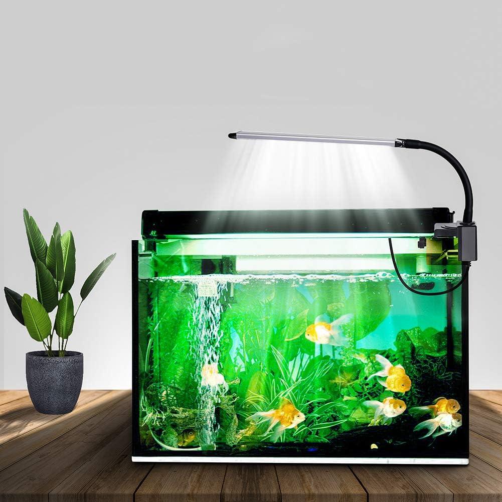 HUASUN 水槽ライト 25CM LED アクアリウムライト 熱帯魚ライト 水草育成 タイマー(3/6/12H/不定時)&調光可 25/30/45cm等水槽照明