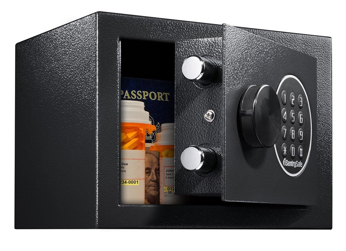 SentrySafe X014E Security Keypad Extra Small Digital Lock Safe, 0.1 Cubic Feet, Black