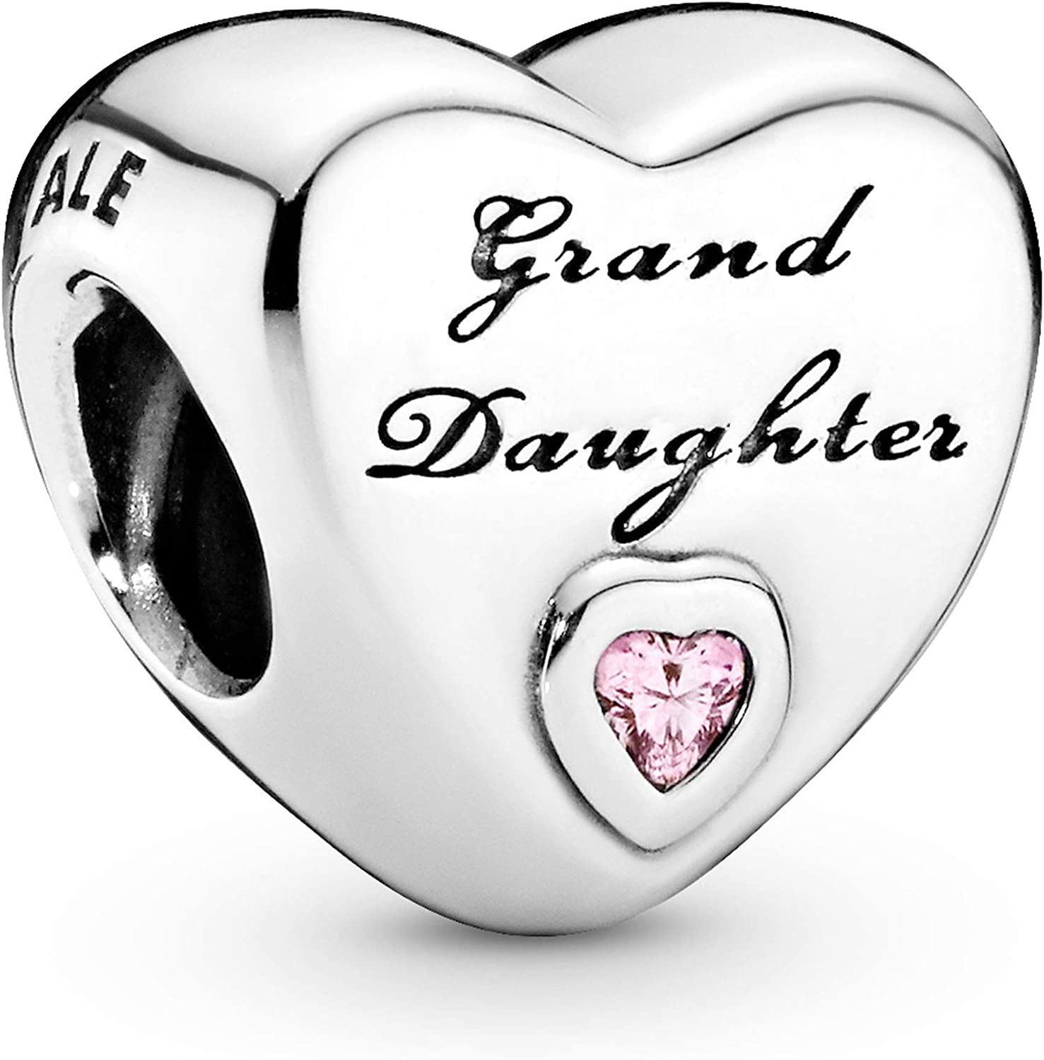 Pandora Jewelry Granddaughter's Love Cubic Zirconia Charm in Sterling Silver