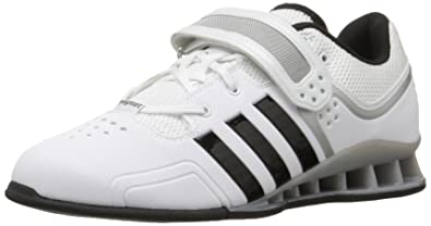adidas Performance Adipower Weightlifting Trainer Shoe,White/Black/Tech Grey,3.5  M
