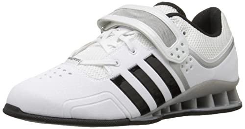 Adidas Adipower Weightlift Zapatos - Negro / escarlata / tech gris metálico (3