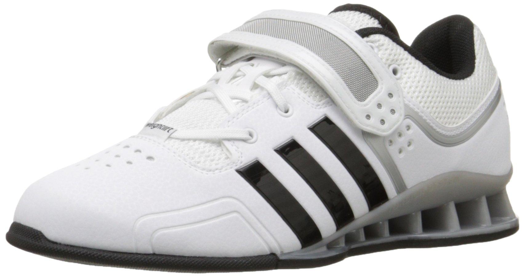adidas Performance Adipower Weightlifting Trainer Shoe,White/Black/Tech Grey,10 M US