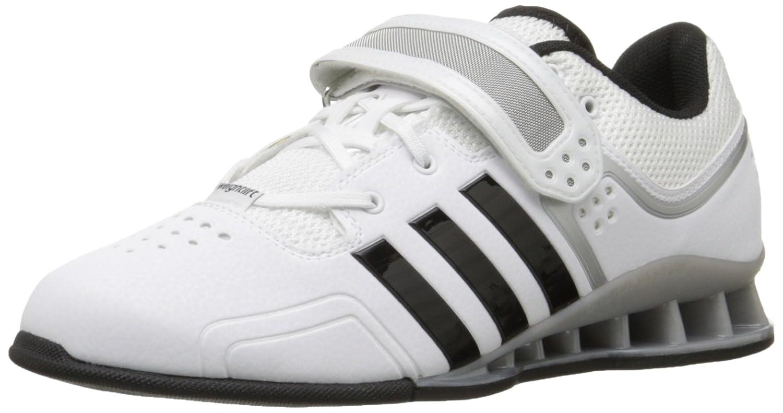 Core White  Core Black  Tech Grey Metallic adidas Men's Adipower Weightlifting shoes