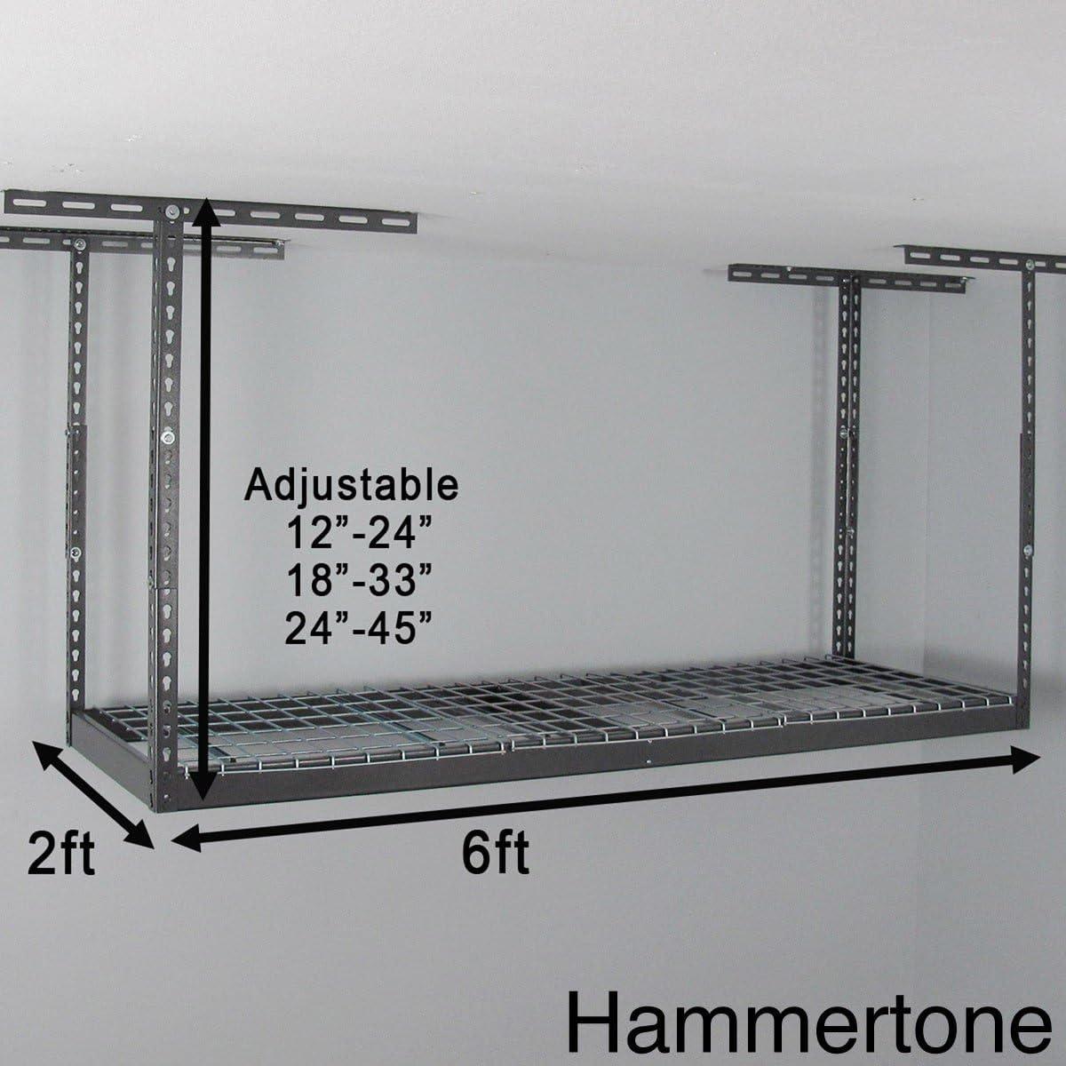 MonsterRax 2 x 6 Overhead Garage Storage Rack Grey 45