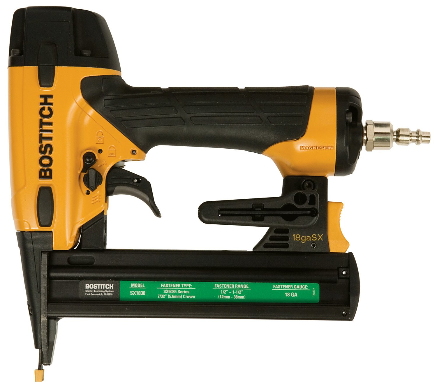 Bostitch U/SX1838K 18 Gauge 7/32-in Crown 1-1/2-in Oil-Free Narrow Crown Finish Stapler Kit RECONDITIONED USX1838K