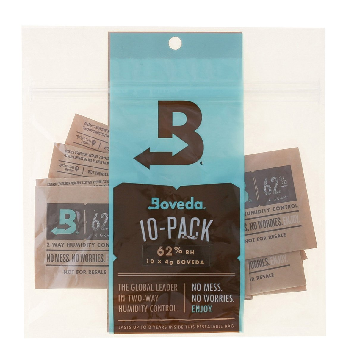 Boveda 62 Percent RH 2-Way Humidity Control, 4 gram - 10 Pack