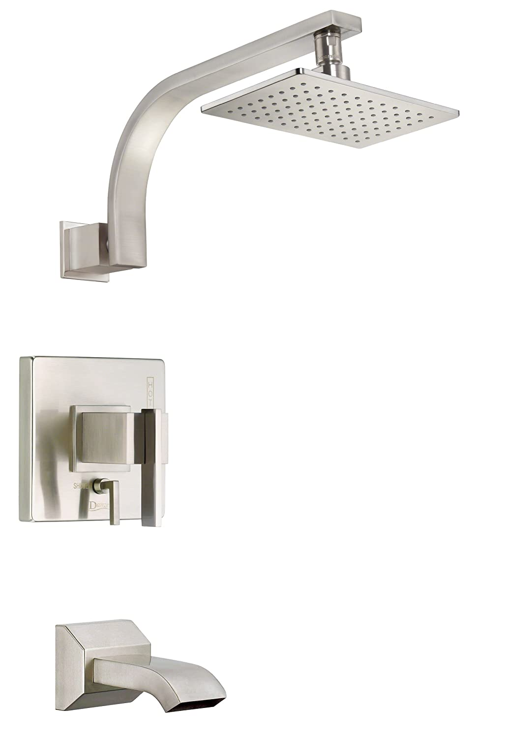 Danze D510044BNT Sirius Single Handle Tub And Shower Trim Kit, 2.5 GPM,  Valve Not Included, Brushed Nickel   Fixed Showerheads   Amazon.com