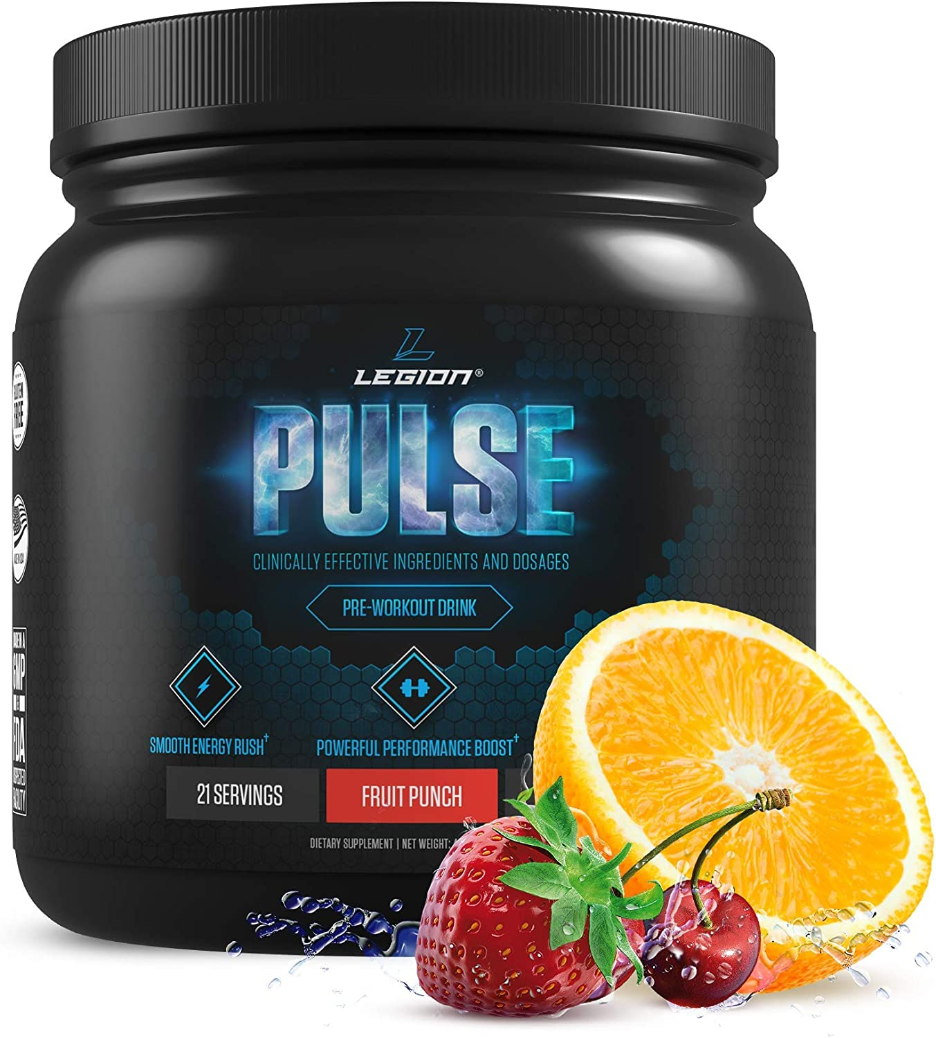 Legion Pulse, Best Natural Pre Workout Supplement for Women and Men