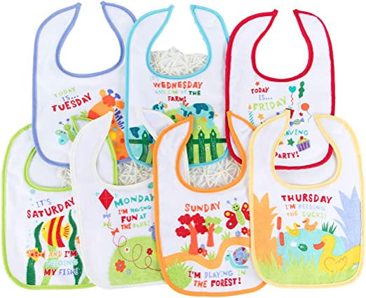 Lot of 12 Pieces Assorted Animals Oopsiebaby WaterProof Polyester Feeding Bibs