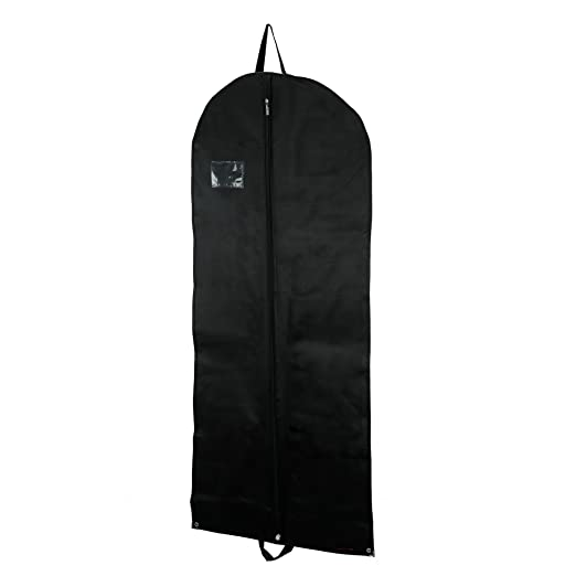 HANGERWORLD Black 54in Breathable Suit Clothes Cover Zip Garment Storage Travel Carrier Bag