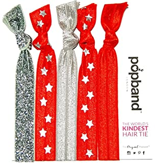 Popband Printed Ponytail Holder Hair Bands/Ties, All Star