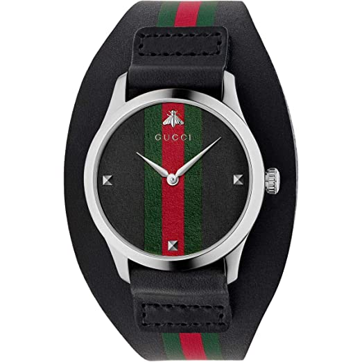 Gucci Watch YA1264092 Reloj de Pulsera Masculino Cuarzo Plata Reloj: Amazon.es: Relojes