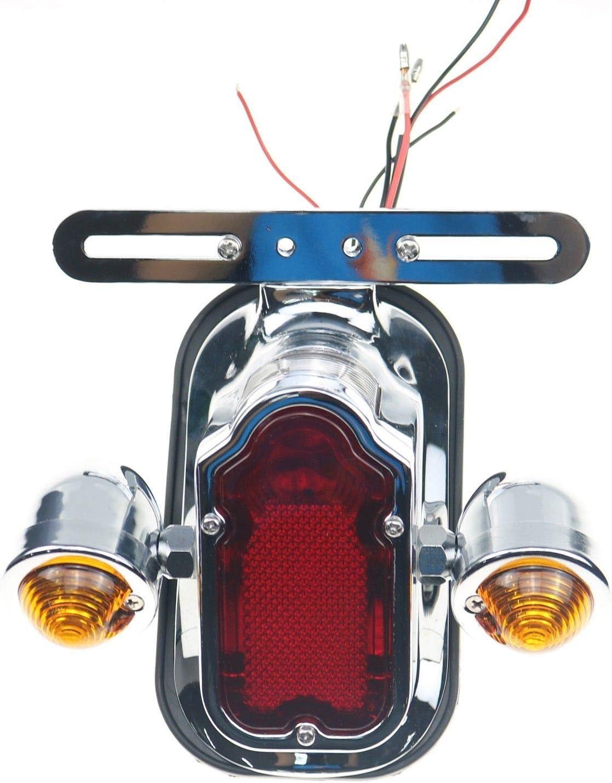 Chrome Tombstone Rücklicht Blinker Für Harley Chopper Flstn Flstsc Custom Auto