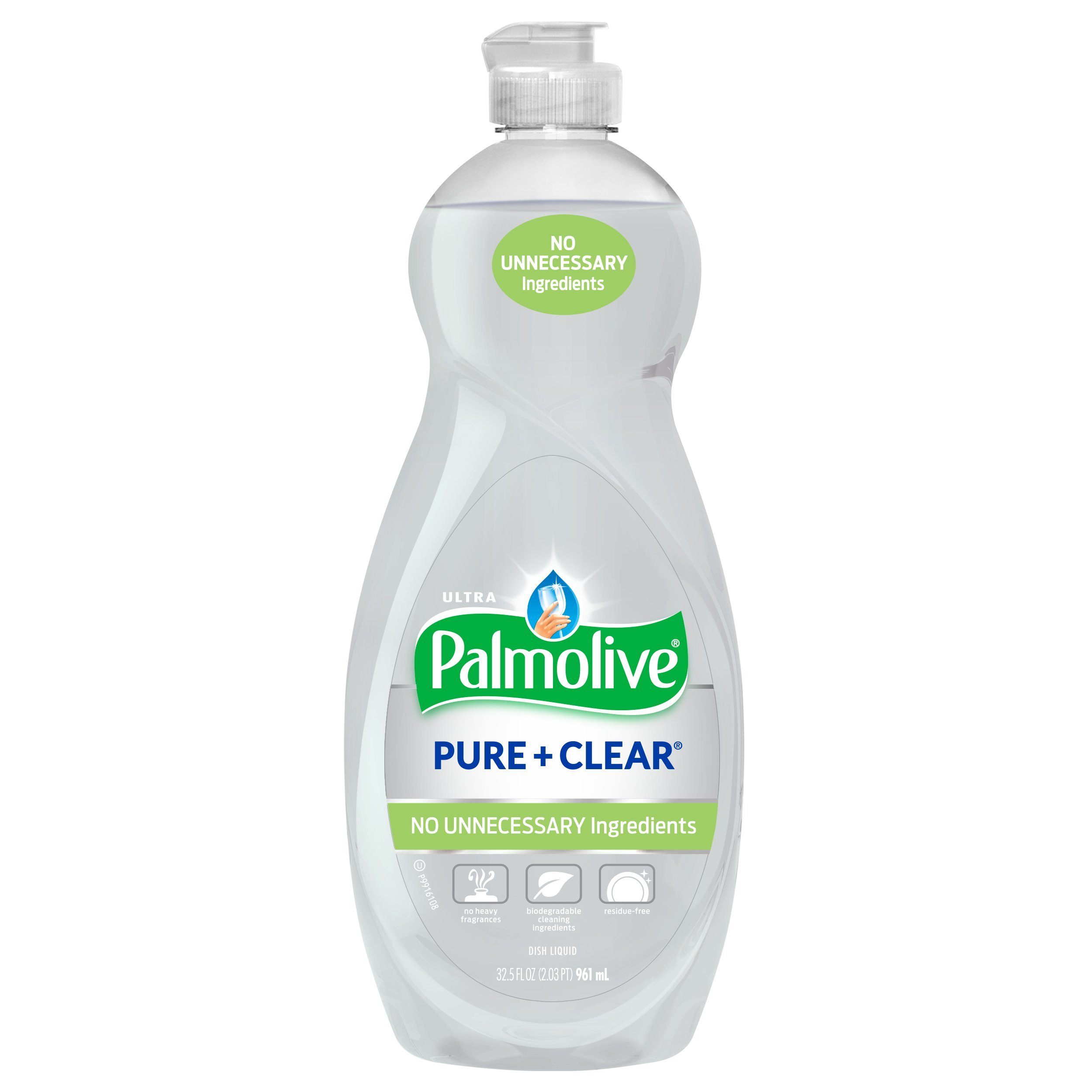 Palmolive Ultra Liquid Dish Soap, Pure and Clear - 32.5 Fluid Ounce (9 Pack)