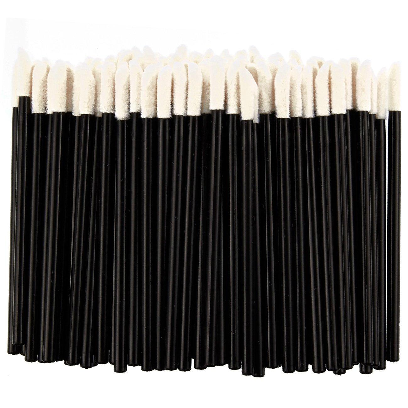 El paquete viene con 100 aplicadores de labios desechables en color crema. Ideal para aplicar pintalabios y brillo de labios. Estos pinceles desechables de labios están hechos de plástico de alta calidad y son seguros de usar. El cepillo se dobla fácilment
