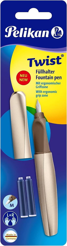 Pelikan 966390/penna stilografica Twist universale per destra e sinistra mani Pink