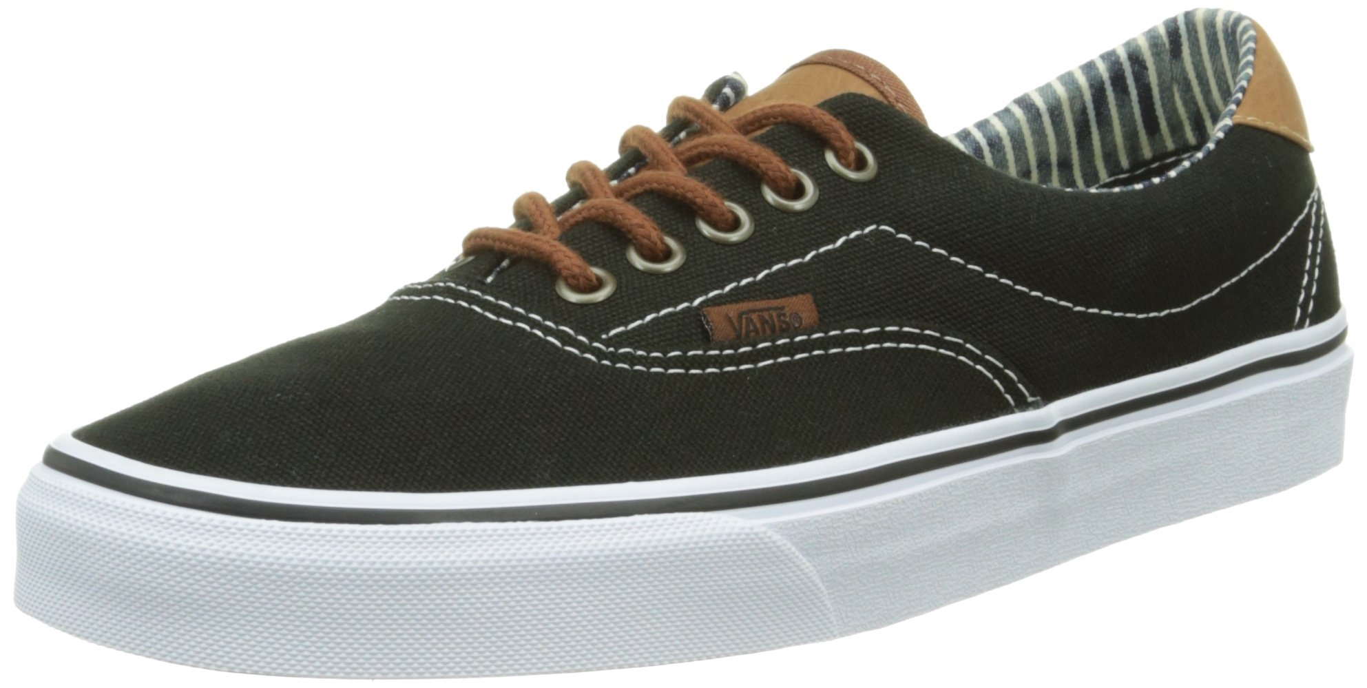 595413cf97 Vans Unisex Era 59 (C L) Black Stripe Denim Skate Shoe 9.5 Men US ...