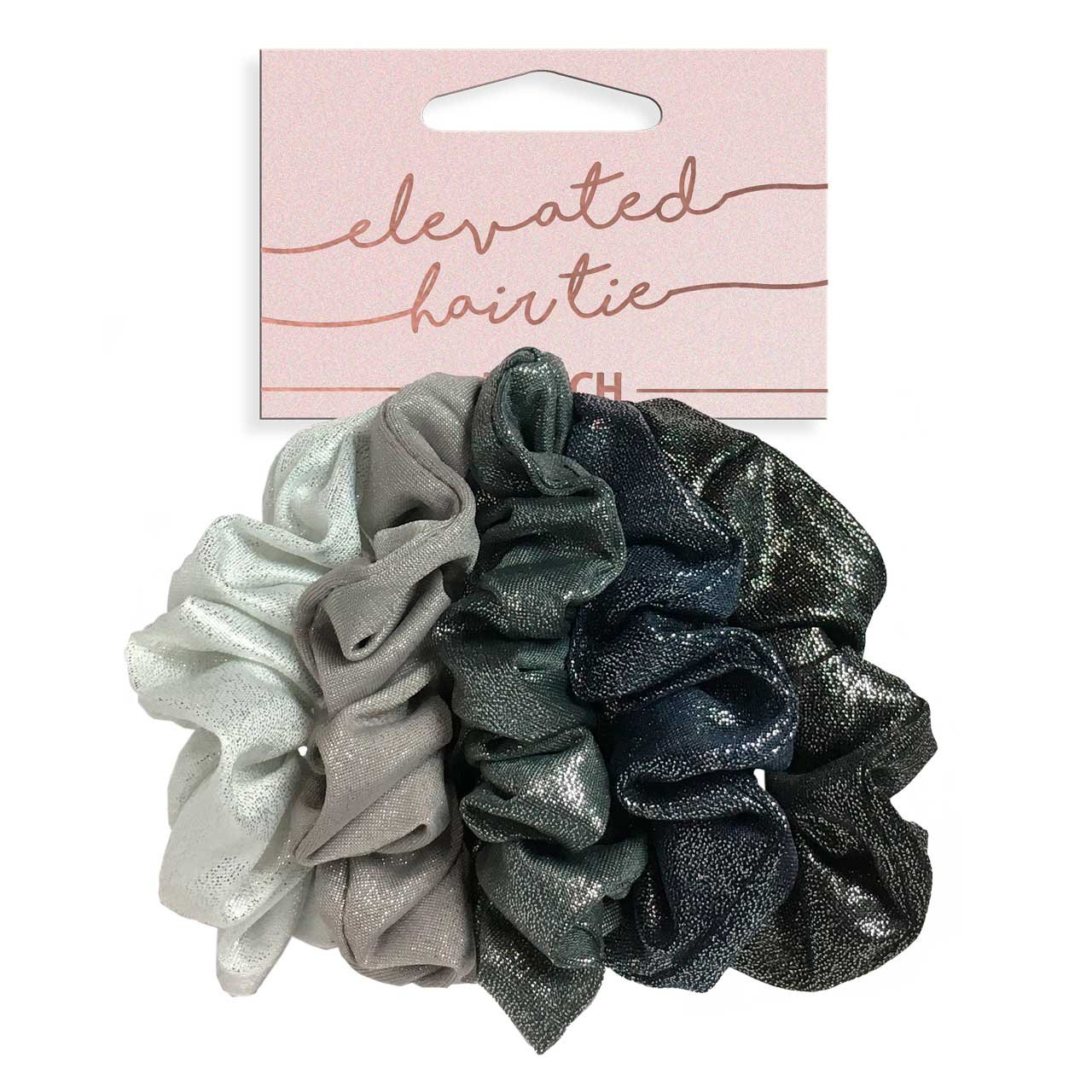 Kitsch Velvet Hair Scrunchies, Cute Suede-Look Scrunchies for Ponytails, Top Knots, Braids and Buns, 5 Count (Velvet Pastel/Blush/Mauve)