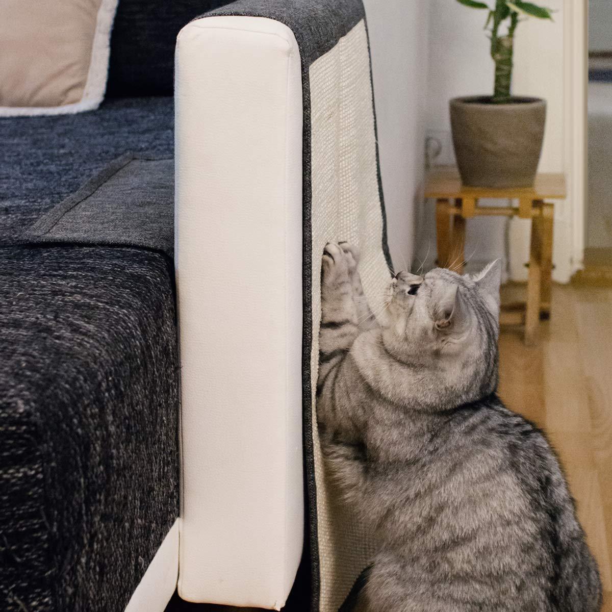Navaris rascador para Gatos - Protector de sofá contra arañazos de Gato y Perro - Afilador de uñas de sisal de 130 x 45CM en Azul: Amazon.es: Hogar