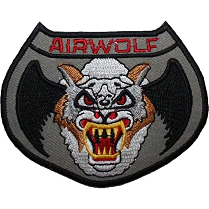 eee76b17 Airwolf Logo Badge Embroidered Patch Grey 4